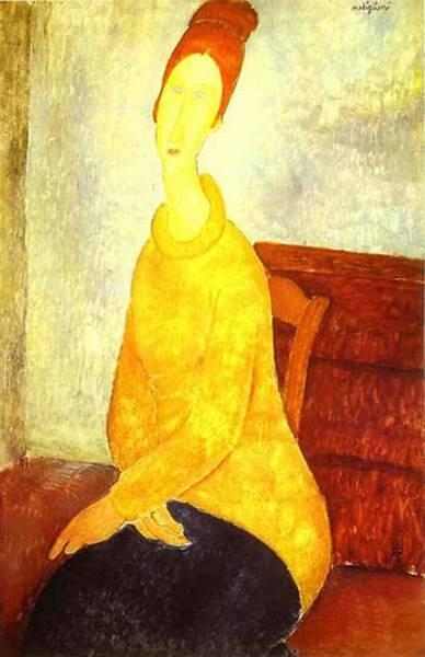 jeanne hebuterne in a yellow sweater 1918 19 XX solomon r guggenheim museum new york ny usa